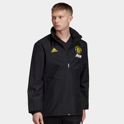 adidas Manchester United 19/20 Full Zip All Weather Football Jacket