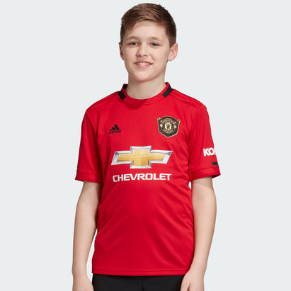 adidas Manchester United 19/20 Home Kids S/S Replica Football Shirt