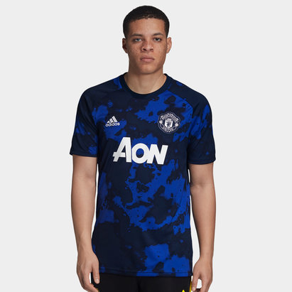 adidas Manchester United 19/20 Pre Match S/S Football Shirt