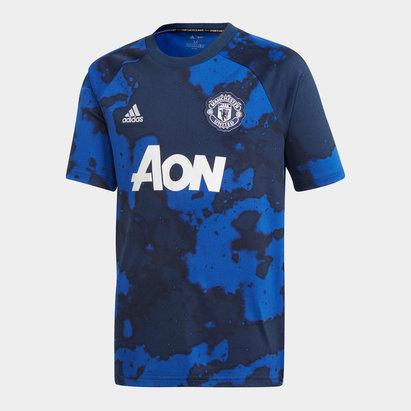 adidas Manchester United 19/20 Kids Pre Match S/S Football Shirt