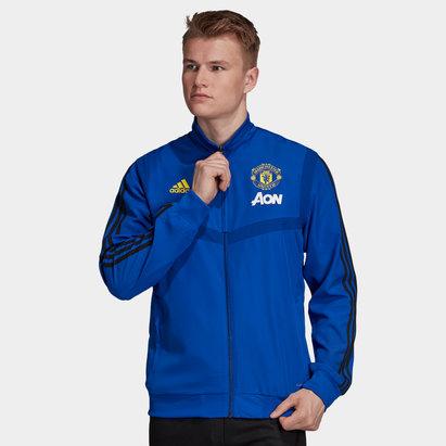 adidas Manchester United 19/20 Full Zip Presentation Football Jacket