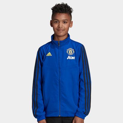 adidas Manchester United 19/20 Kids Full Zip Presentation Football Jacket