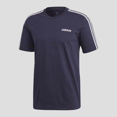 adidas Essentials 3 Stripes Mens T Shirt