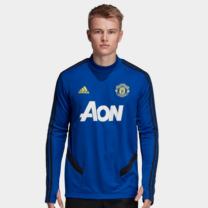 adidas Manchester United 19/20 Players L/S Football Training Sweat