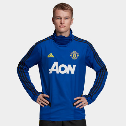 adidas Manchester United 19/20 Players Warm Up Football Top