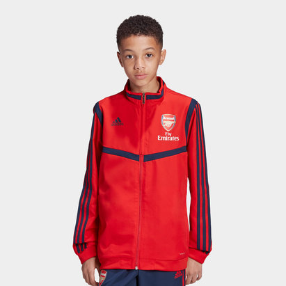 adidas Arsenal 19/20 Kids Full Zip Presentation Football Jacket