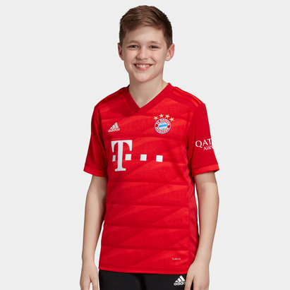 adidas Bayern Short Sleeve T Shirt Juniors