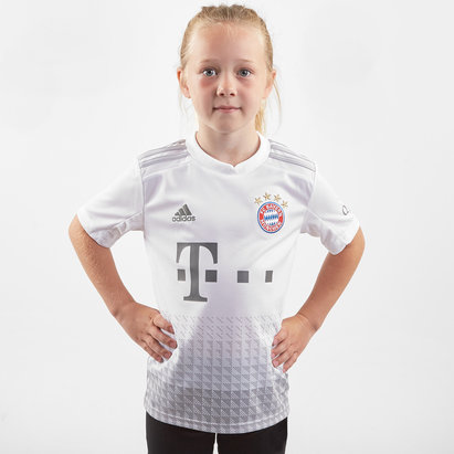 adidas Bayern Munich 19/20 Kids Away S/S Replica Football Shirt