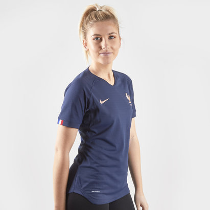 Nike France Womens 2019 Home Authentic Match Vapor S/S Football Shirt