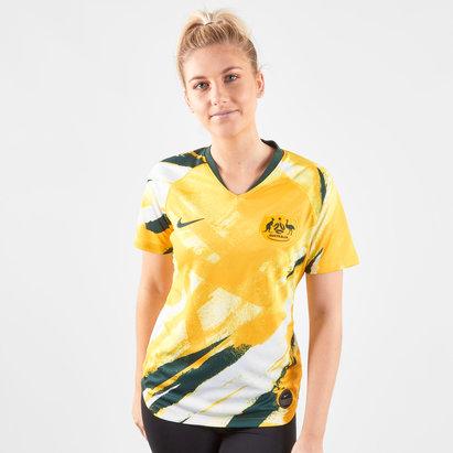 Nike Australia Womens 2019 Home S/S Replica Football Shirt