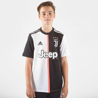 adidas Juventus 19/20 Kids Home S/S Replica Football Shirt