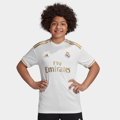 adidas Real Madrid 19/20 Kids Home S/S Replica Football Shirt