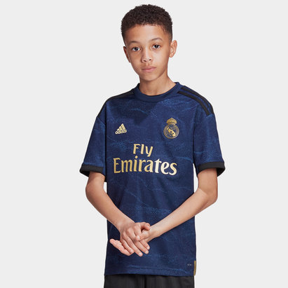 adidas Real Madrid 19/20 Kids Away S/S Replica Football Shirt