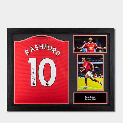 Team Marcus Rashford 18/19 Signed Framed Football Shirt