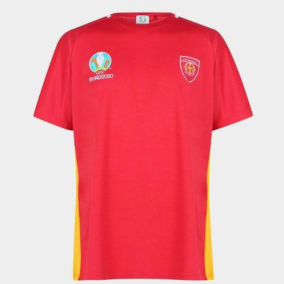 UEFA Euro 2020 North Macedonia T Shirt Mens