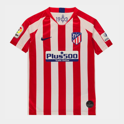 Nike Atletico Madrid 19/20 Kids Home S/S Replica Football Shirt