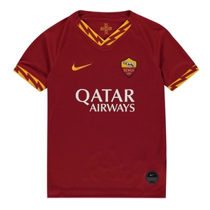 Nike AS Roma 19/20 Home Replica Kids Football Shirt