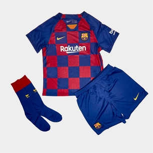 Nike FC Barcelona 19/20 Mini Kids Home Replica Football Kit