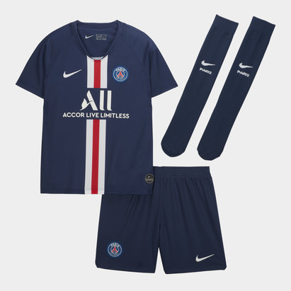 Nike Paris Saint-Germain 19/20 Mini Kids Home Replica Football Kit