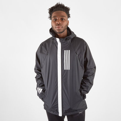 adidas Harlequins WND Full Zip Hooded Rugby Jacket