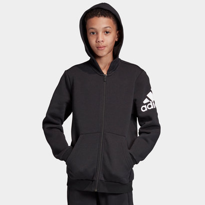 adidas Kids Full Zip Hooded Sweat