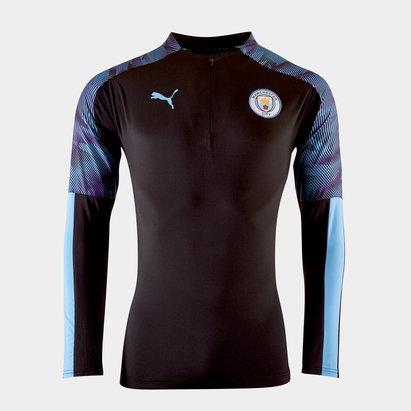 Puma Manchester City 19/20 1/4 Zip Football Jacket