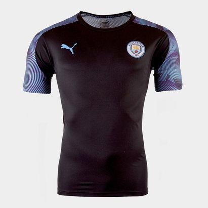 Puma Manchester City 19/20 Players S/S Kids Football Training Shirt