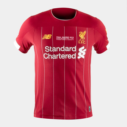 New Balance Liverpool FC 19/20 Kids Limited Edition Madrid Home S/S Football Shirt Red
