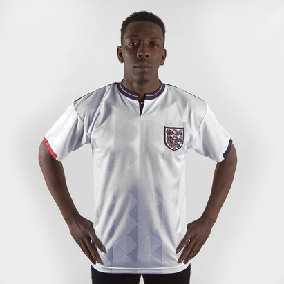Score Draw England 1989 Home S/S Retro Football Shirt