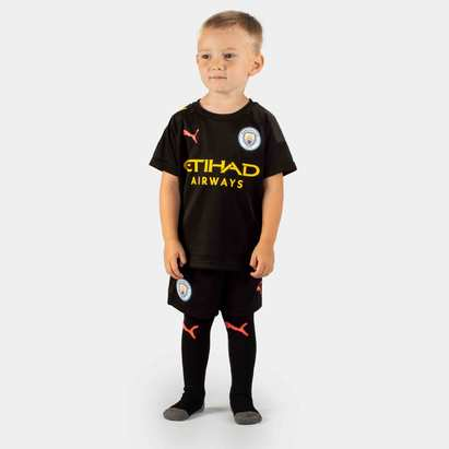 Puma Manchester City 19/20 Away Mini Kids Football Kit