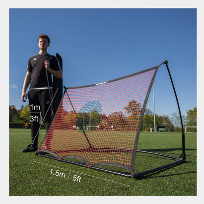 -- Spot Elite 1.5m x 1m Ultra Portable Football Rebounder & Free Kick Wall