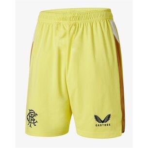 Castore Rangers Home Goalkeeper Shorts 2021 2022 Junior