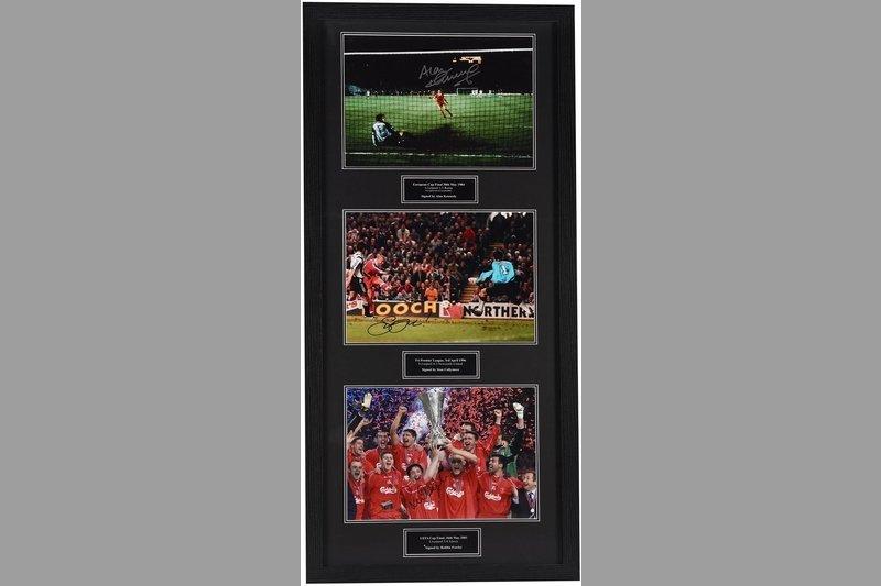 Liverpool Hand Signed Treble Display Frame