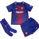 FC Barcelona 17/18 Little Kids Home Football Kit