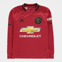 Manchester United 19/20 Kids Home L/S Football Shirt