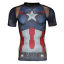 Captain America Transform Yourself Fullsuit S/S Compression T-Shirt