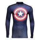 Captain America Transform Yourself ColdGear Compression L/S T-Shirt