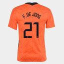 Netherlands Frenkie De Jong Home Shirt 2020