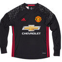Manchester United 16/17 Home L/S Kids Goalkeepers Football Shirt