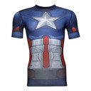 Captain America Transform Yourself Compression S/S T-Shirt