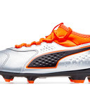 One 3 Leather FG Kids Football Boots