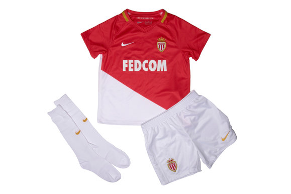 AS Monaco FC 17/18 Home Kids Football Kit
