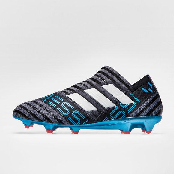 f58d14958416be adidas Nemeziz Messi 17+ 360 Agility FG Football Boots. Grey White Core  Black