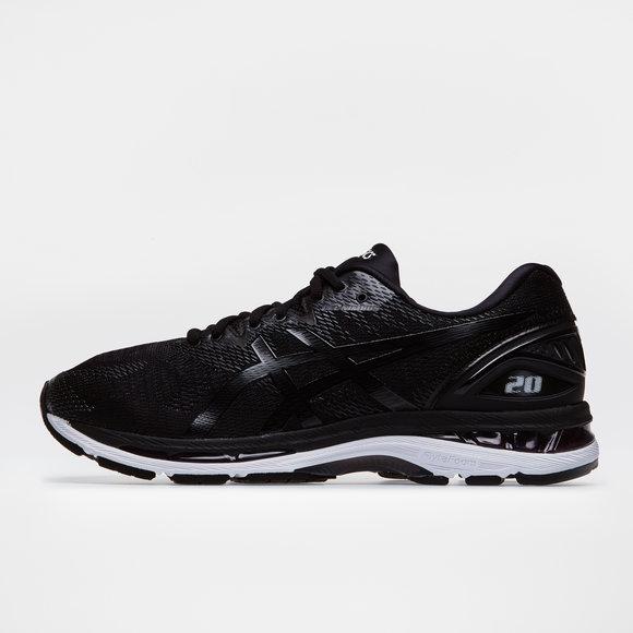 157398416c Asics Gel Nimbus 20 2E Mens Running Shoes. Black White Carbon