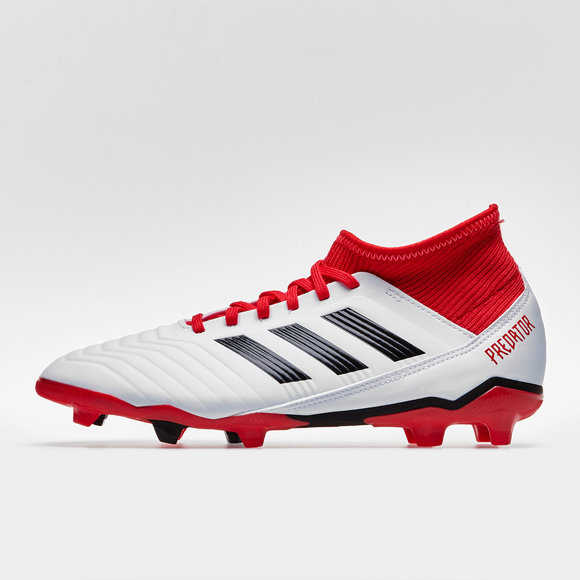 info for 41e8b f1d31 adidas Predator 18.3 FG Kids Football Boots. White Core Black Real Coral
