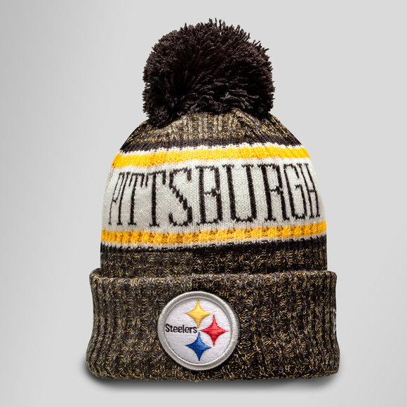 ... italy nfl pittsburgh steelers sideline bobble knit hat c1468 4836e bbc232022