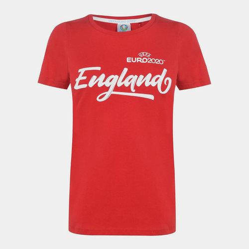 Euro 2020 England Core T Shirt Ladies
