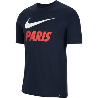 Paris Saint Germain Training T Shirt Mens