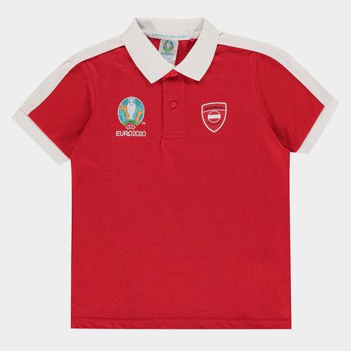 Euro 2020 Austria Polo Shirt Junior Boys