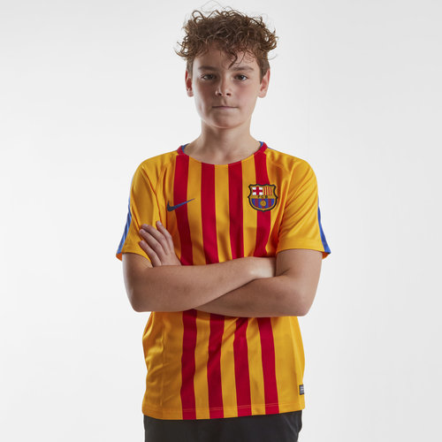 FC Barcelona 17/18 Kids Dry Squad GX Football Training Shirt